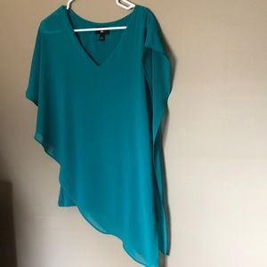 Turquoise A-line Blouse